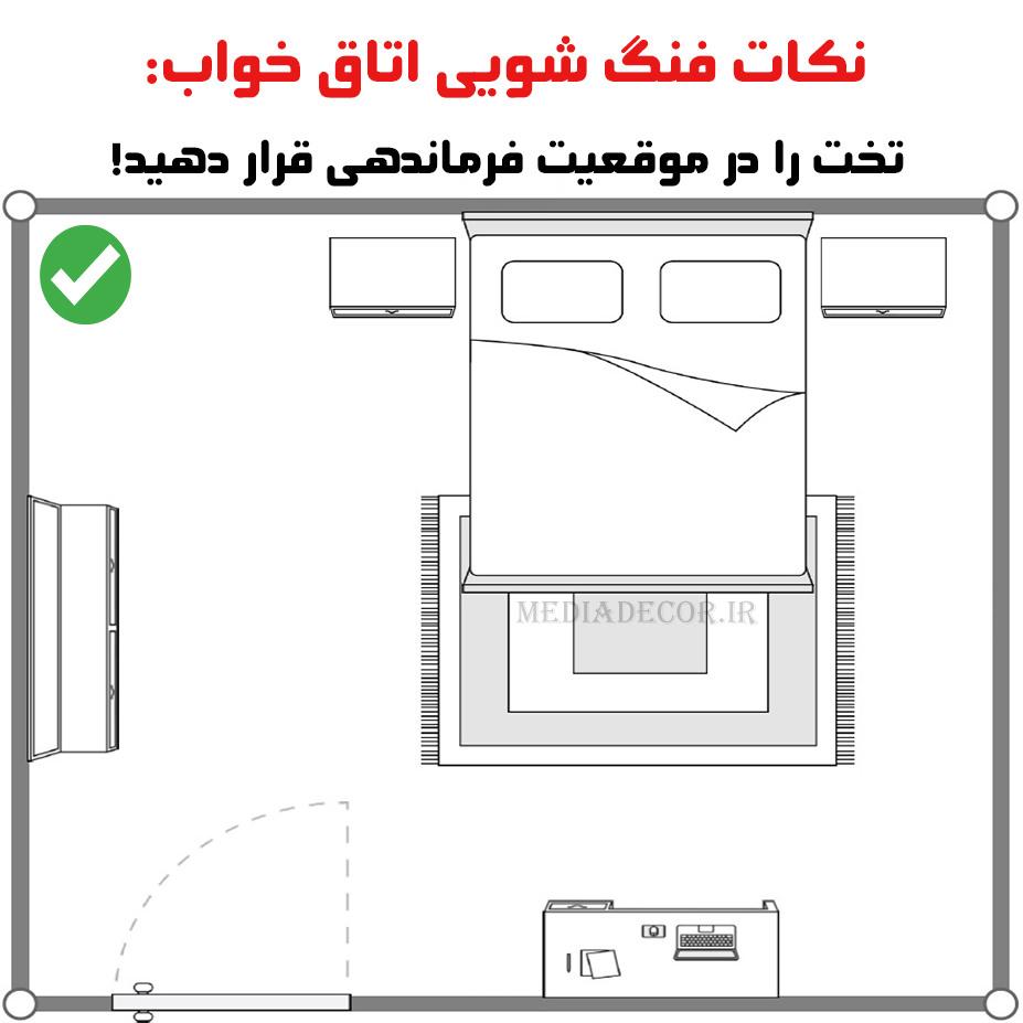 نکات فنگ شویی اتاق خواب: تخت را در موقعیت فرماندهی قرار دهید!