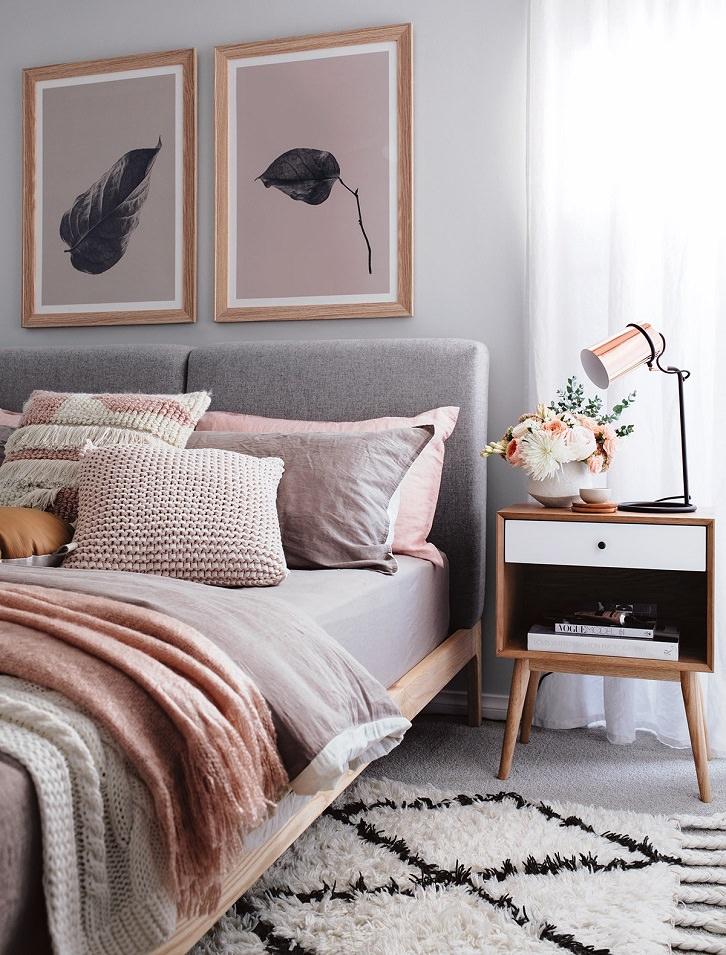 هارمونی در دکوراسیون اتاق خواب با انتخاب رنگ و طرح های مشابه
