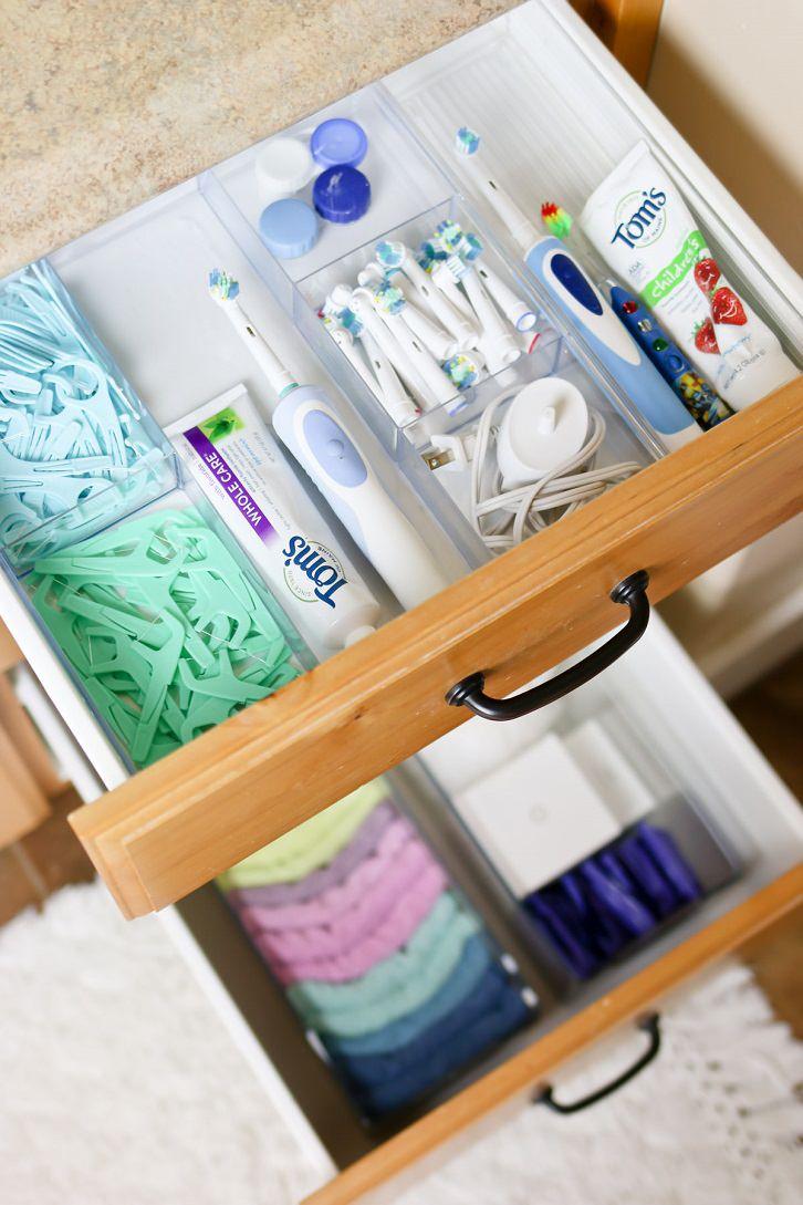 استفاده از کشو برای مرتب کردن وسایل داخل حمام و سرویس بهداشتی