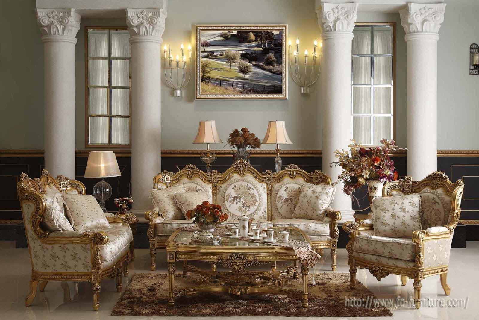 سبک دکوراسیون کلاسیک با مبلمان استیل طلایی از با کیفیت ترین چوب