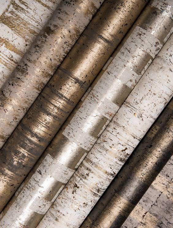 رول کاغذ دیواری فلزی