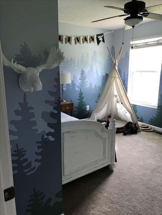 استفاده از کاغذ دیواری نانو در اتاق کودک