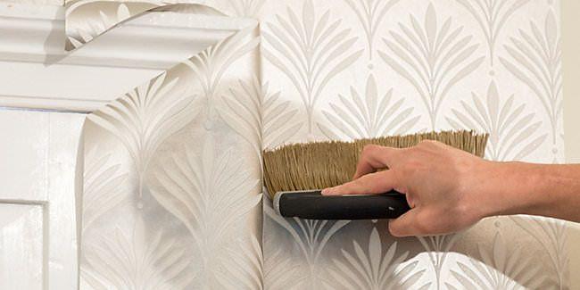 طریقه نصب کاغذ دیواری دور چهارچوب درب و پنجره