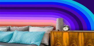 کاغذ دیواری اتاق نوجوان به رنگ آبی