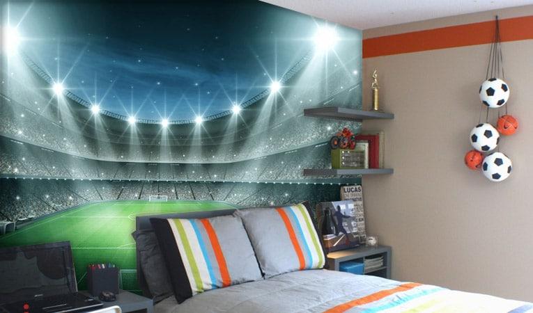 پوستر اتاق نوجوان پسر با طرح استادیوم