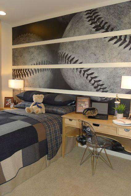 پوستر اتاق نوجوان پسر با طرح توپ بیسبال