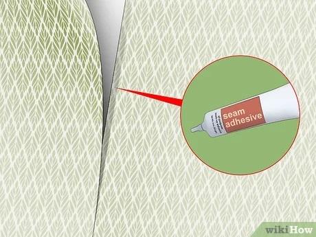 چسب زدن درز کاغذ دیواری