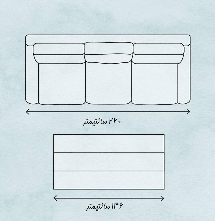 طول میز جلو مبلی بر اساس طول مبل