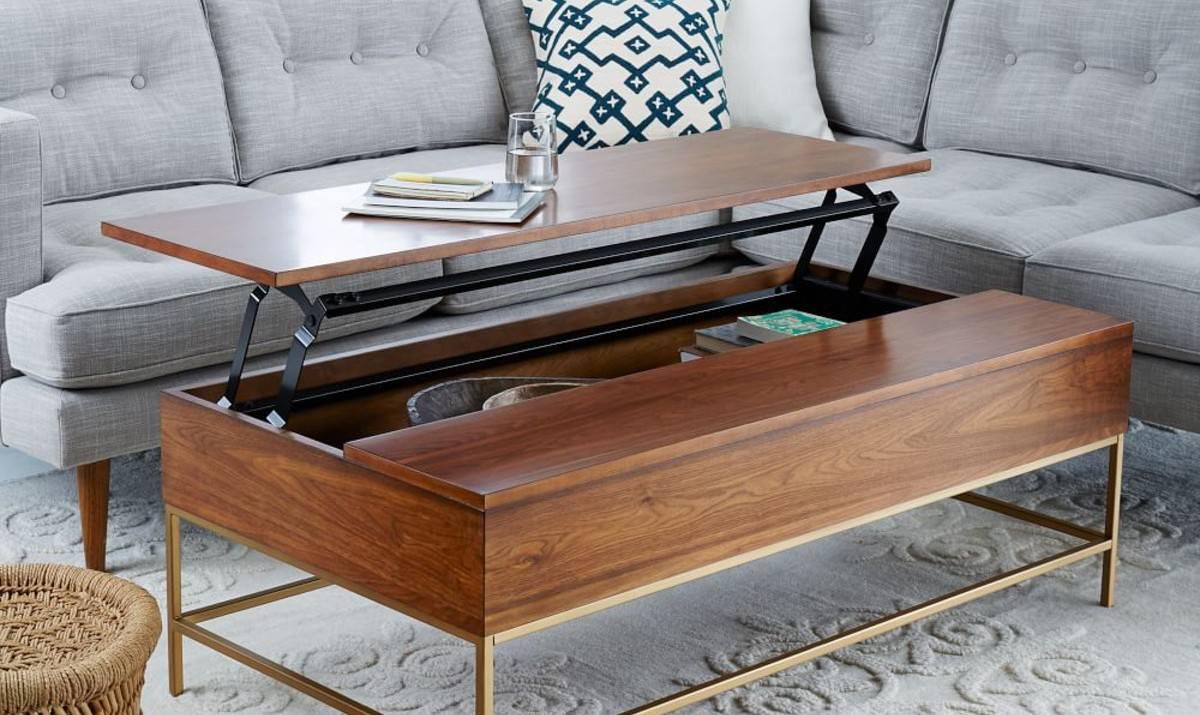 میز جلو مبلی کشودار چوبی مستطیلی