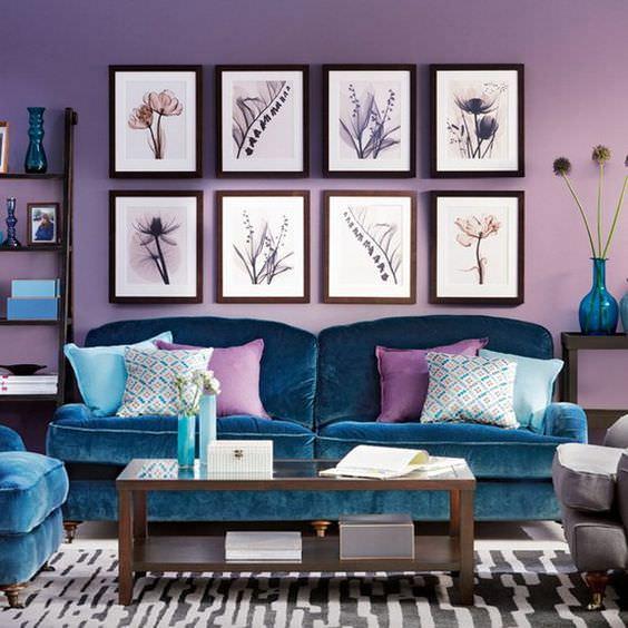 ترکیب رنگی به روش رنگ های مشابه در دکوراسیون داخلی نشیمن