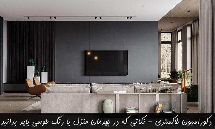 دکوراسیون خاکستری - نکاتی که در چیدمان منزل با رنگ طوسی باید بدانید