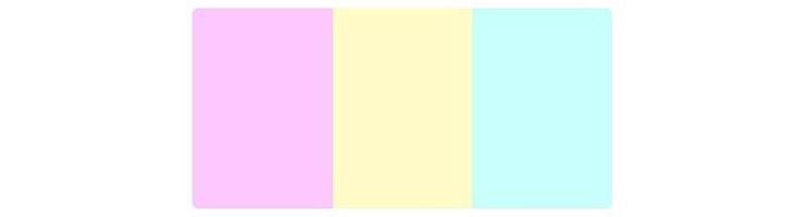 ترکیب رنگی مجموعه سه تایی رنگ کرم، صورتی و سبز