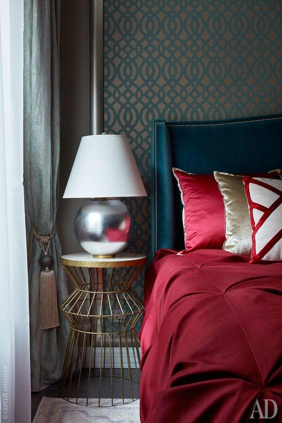 اتاق خواب آبی قرمز