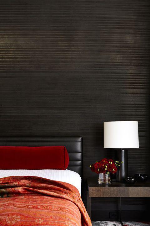 اتاق خواب مشکی و قرمز