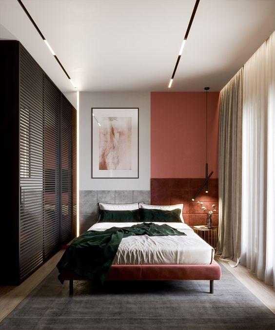 اتاق خواب قرمز و مشکی