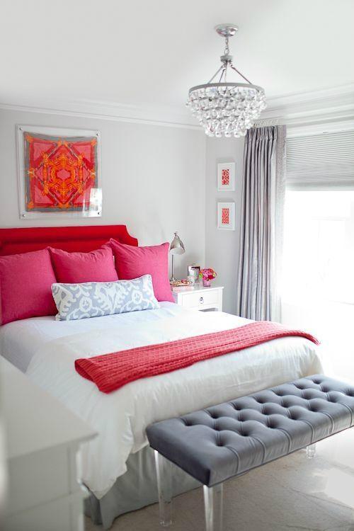 اتاق خواب سفید و قرمز