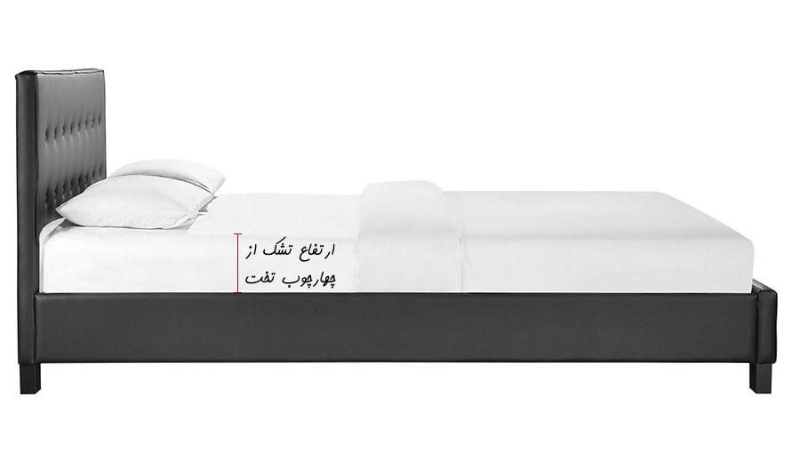 محاسبه ارتفاع تشک از چهارچوب تخت برای انتخاب سایز و اندازه روتختی یک یا دو نفره