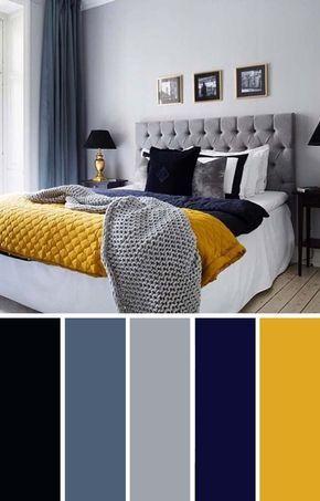 اتاق خواب زرد و آبی