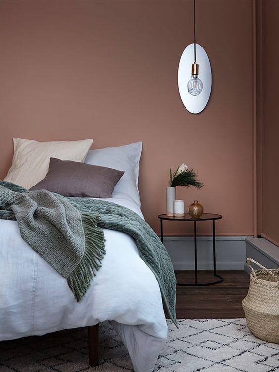 اتاث خواب با تناژهای مختلف رنگ صورتی