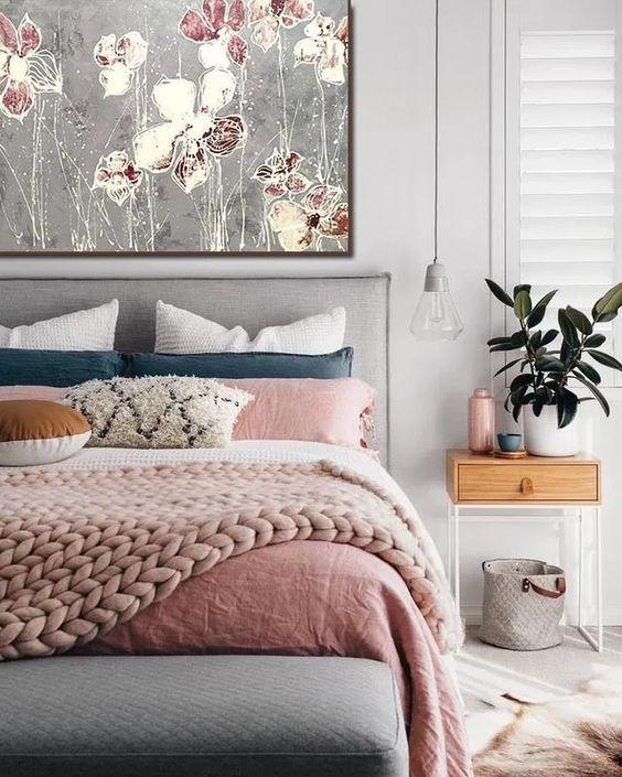 اتاق خواب آبی و صورتی