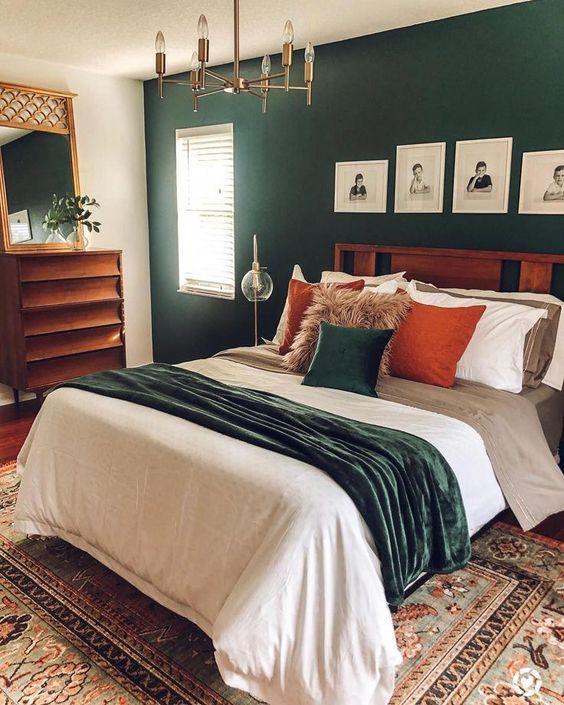 اتاق حوب سبز و نارنجی