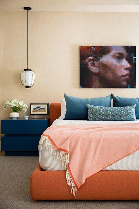 اتاق خواب آبی کاربی و نارنجی