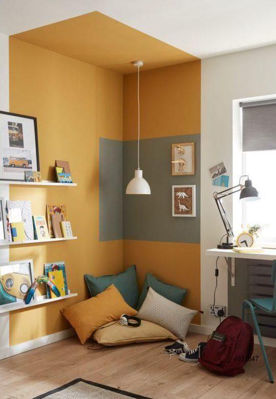 رنگ آمیزی خلاقانه اتاق خواب با رنگ زرد