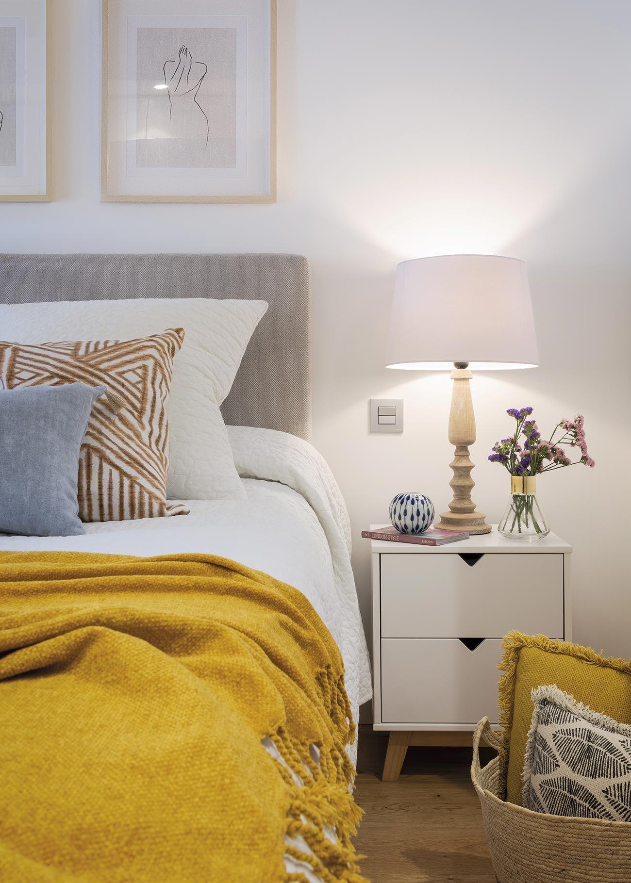 استفاده از دکوریجات زرد در اتاق خواب