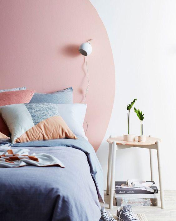 دکوراسیون اتاق خواب آبی و صورتی