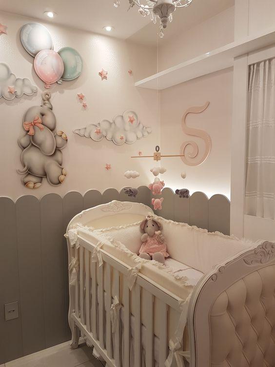 اتاق خواب نوزاد دختر