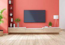 تصویر شاخص رنگ دیوار پشت تلویزیون