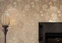 تصویر شاخص طراحی پشت تلویزیون با کاغذ دیواری