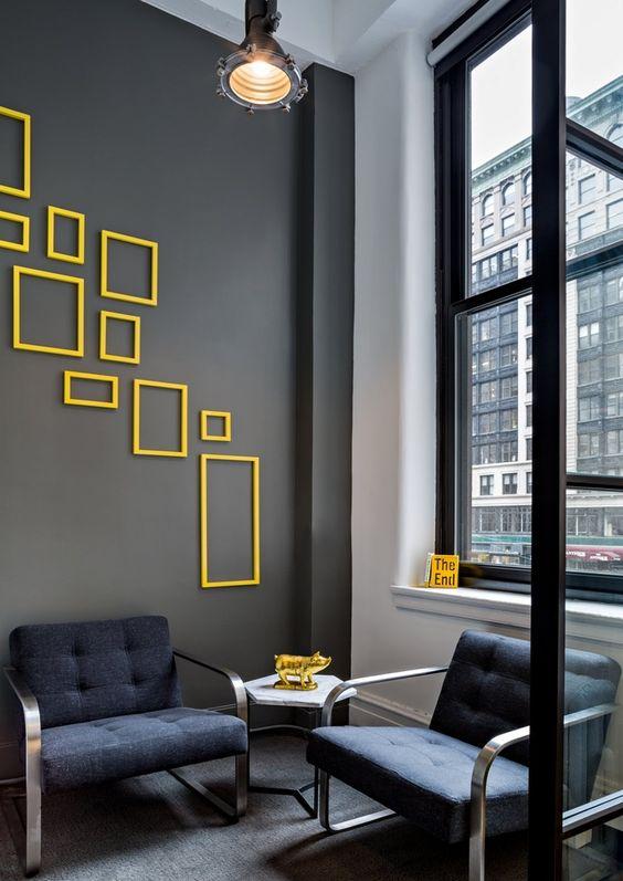 استفاده از قاب عکس خالی برای دیزاین دیوار