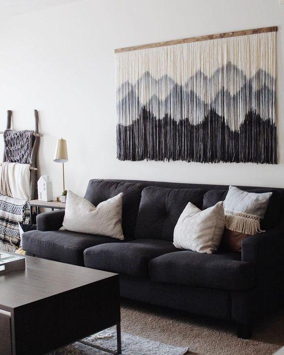 آویز دکوری برای تزیین دیوار با وسایل ساده