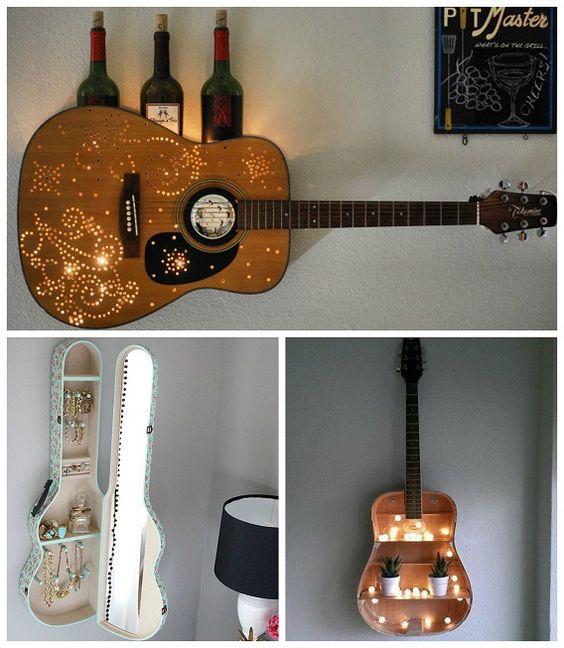 دیزاین دیوار با گیتار