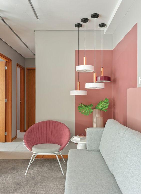 رنگ آمیزی دیوار پذیرایی مدرن