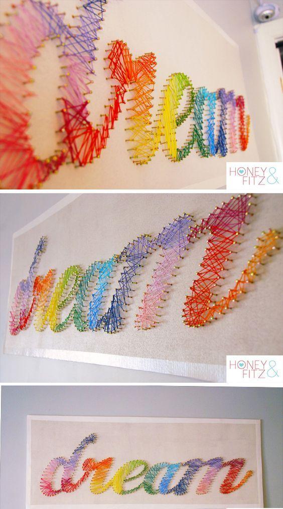 تابلو خلاقانه با نخ کوبلن