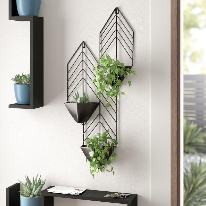 گلدان دیواری برای تزیین دیوار با وسایل ساده