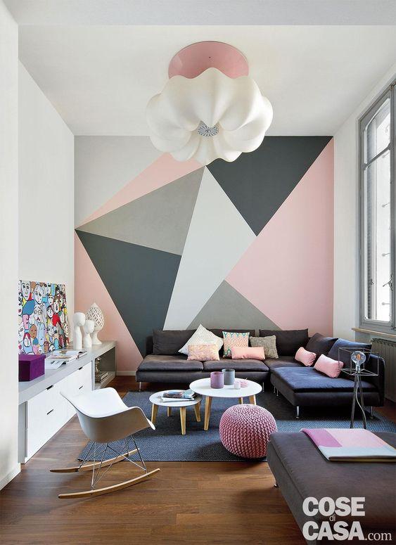 رنگ آمیزی دیوار مدرن