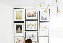 تزیین دیوار با تابلو های کوچک