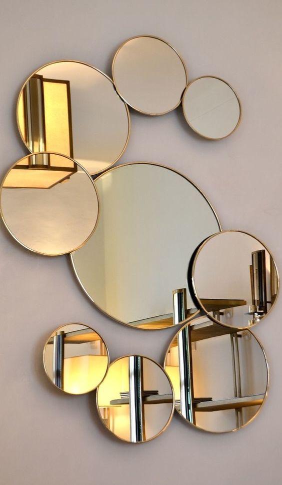 استفاده از آینه مدرن برای دیزاین دیوار