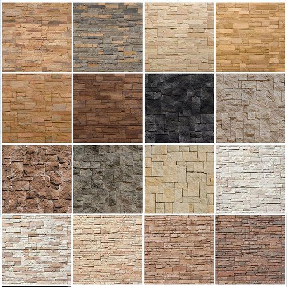 انواع رنگ های سنگ انتیک برای تزیین دیوار