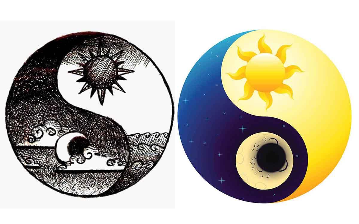 یین و یانگ ماه و خورشید