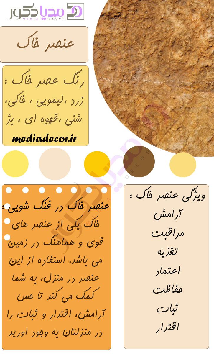 ویژگی های عنصر فنگ شویی خاک